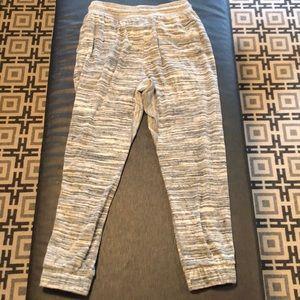 Free People Pants - Grey & White Free People Sweatpants